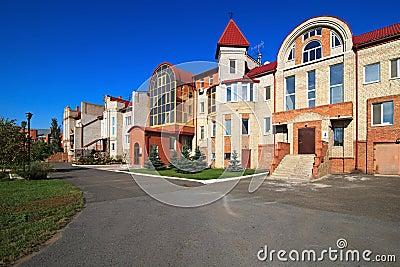 Modern townhouse.
