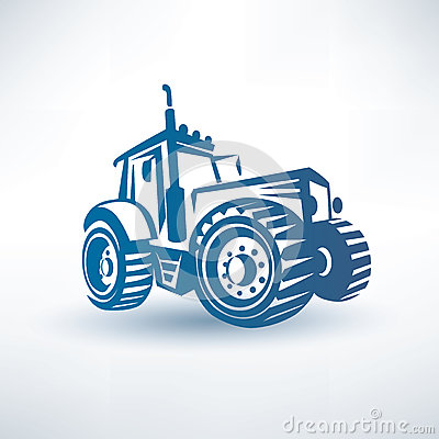 Free Modern Tractor Symbol Stock Image - 40635831