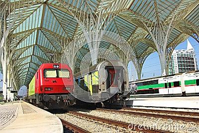 Modern train station. Editorial Photo