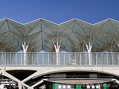 Modern Train Station Editorial Photography