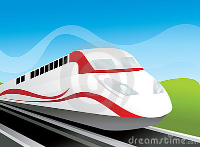 Modern Train vector composition