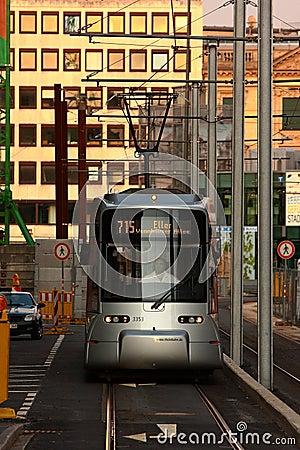 Modern Tram Düsseldorf Editorial Stock Image