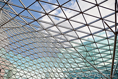 Modern transparent glass ceiling