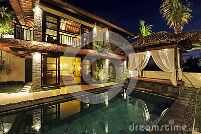 Modern tropical villa with swimming pool
