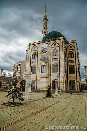 Modern Turkish Mosque Stock Photo - Image: 57278107