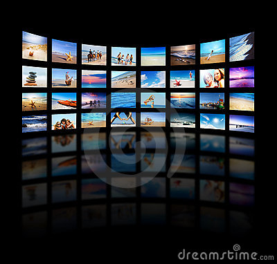 Modern TV screens panel