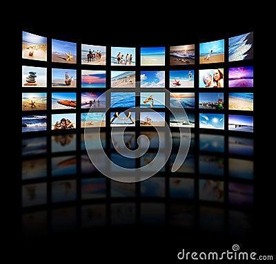 Free Modern TV Screens Panel Stock Photo - 18528060