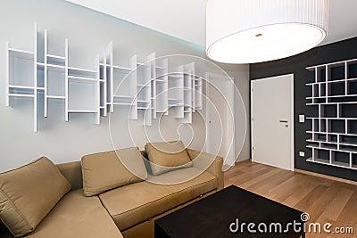 Modern uppehälle-rum inre
