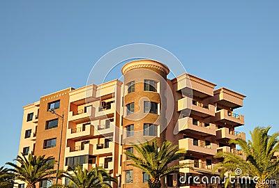 Modern urban building in Marrakech