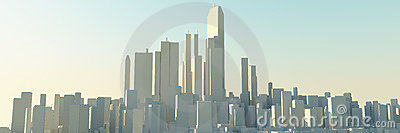 Modern urban city skyline