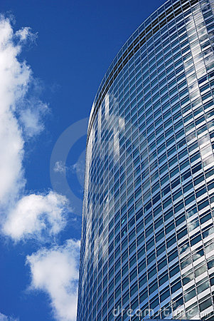 Modern urban office buildings