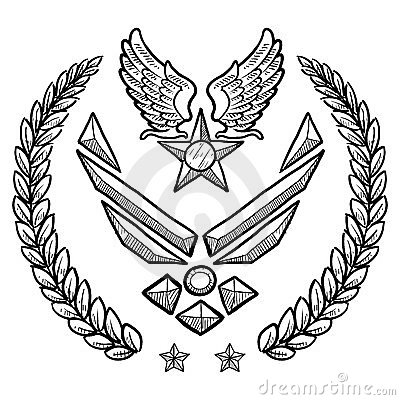 Modern US Air Force Insignia with Wreath