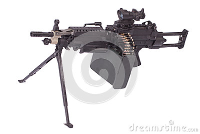 modern us army machine gun royalty free stock images image 36892819. Black Bedroom Furniture Sets. Home Design Ideas
