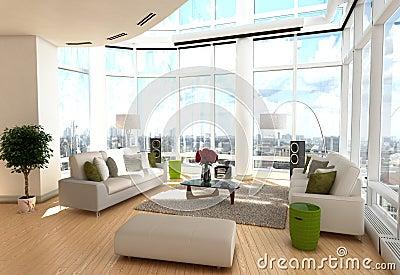 Fönster fönster vardagsrum : Modern Vardagsrum Med Sjalen Runt Om Fönster Stock Illustrationer ...