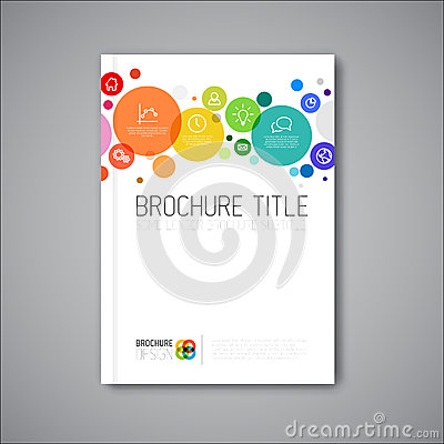 Free Modern Vector Abstract Brochure Design Template Royalty Free Stock Photo - 45802715