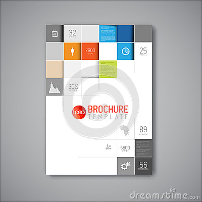 Free Modern Vector Abstract Brochure Design Template Royalty Free Stock Photos - 45802958