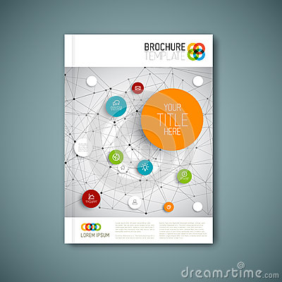 Free Modern Vector Abstract Brochure Report Design Template Royalty Free Stock Images - 46145449