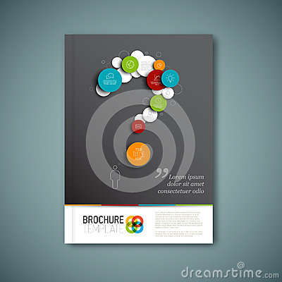 Free Modern Vector Abstract Brochure Report Design Template Royalty Free Stock Image - 46318816