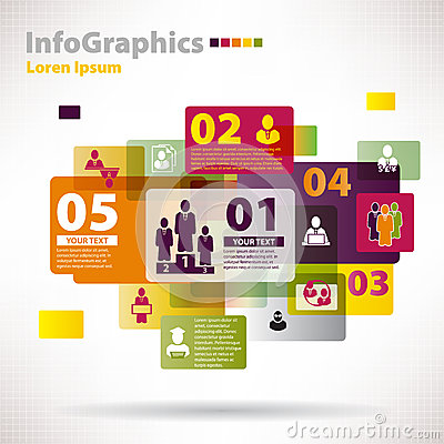 Modern vector elements for infographics with cloud