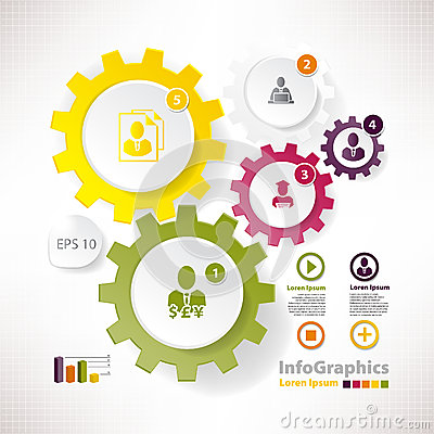 Modern vector elements for infographics cogwheels