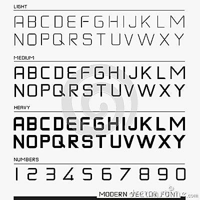 Modern Vector Font