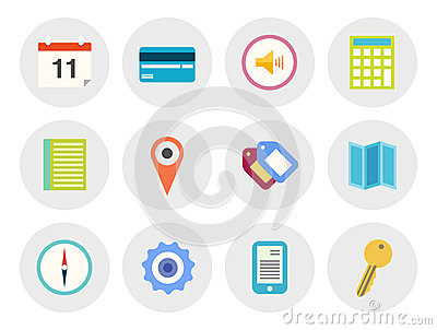 Modern vector icons set