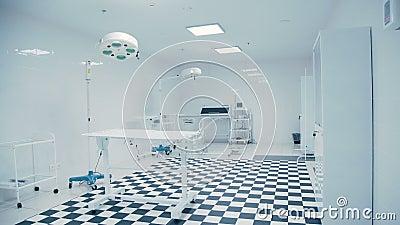 Modern Veterinary Clinic Tiled Black And White Floor