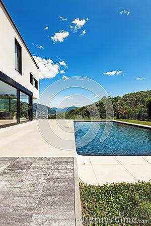 Modern villa, outdoor