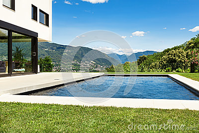 Modern villa with pool