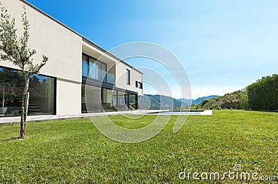 Modern villa, view garden