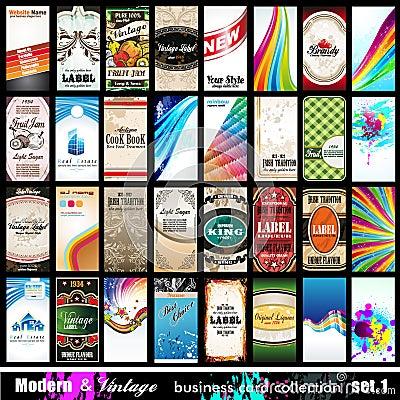 Modern & Vintage Business Card Collection - Set 1