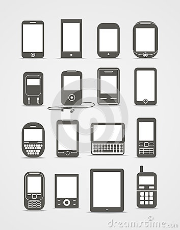 Modern and vintage mobile gadgets