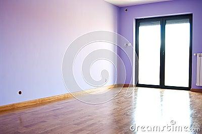 Modern violet room
