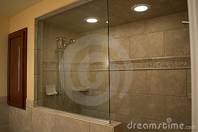 Walk Shower on Modern Walk In Shower Royalty Free Stock Photos   Image  17964278