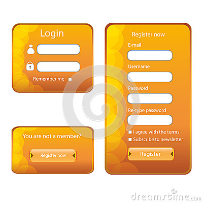 Modern web card  form