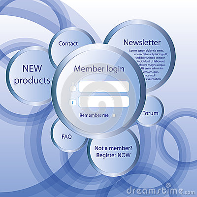Modern web card  form