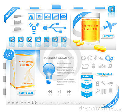 Modern web set with packaging