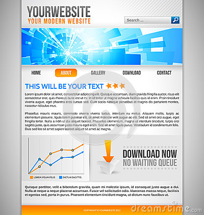 Modern Website Template with abstract banner