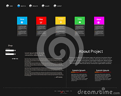 Modern websitemall för affär