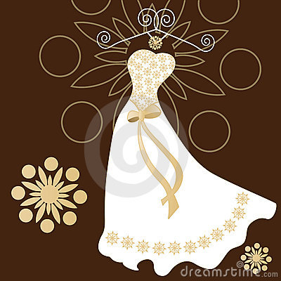 Free Modern Wedding Dress With Traditional Touches Stock Photography - 9885232