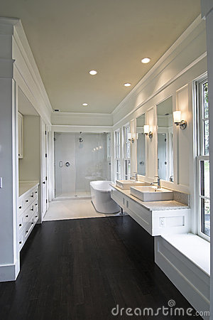 Modern White Bathroom Royalty Free Stock Photography - Image: 12642457