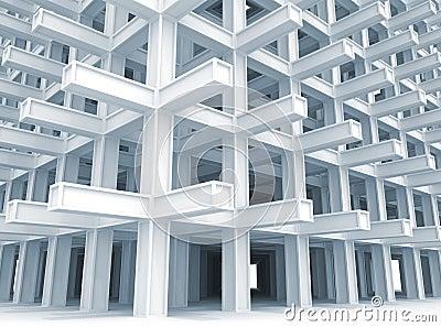 Modern white braced construction