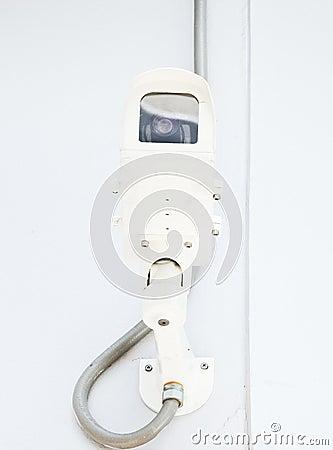 Modern white CCTV