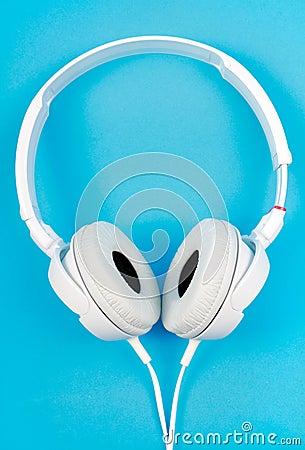 Modern white headphone