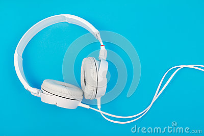 Modern white headphone