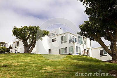 Modern White Homes On A Hill In California
