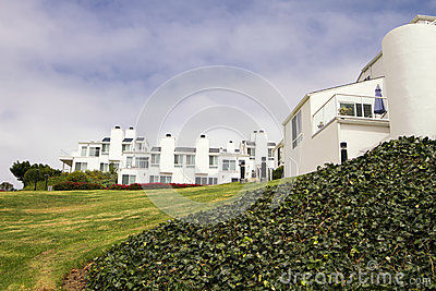 Modern White Houses On A Hill In California