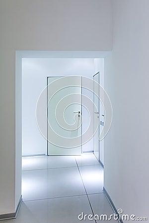 Modern white interior stock images image 34216774