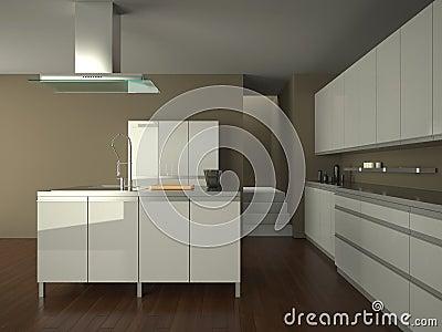 Modern white kitchen foto spiderpic royalty vrije stock foto 39 s - Moderne witte kamer ...