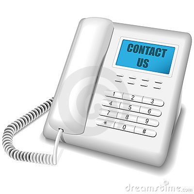 Free Modern White Telephone. Royalty Free Stock Images - 10775249